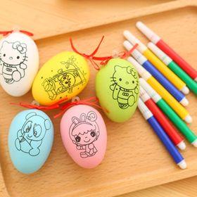 bán buôn sỉ bộ trứng tô màu gồm 1 trứng và 4 bút giá sỉ 5800đ/1 bộ giá sỉ