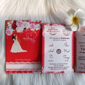 thiệp cưới đỏ giá sỉ