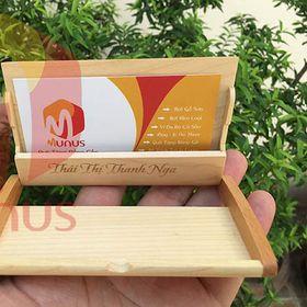Hộp Đựng Name Card Bằng Gỗ Khắc Tên Logo - Munus giá sỉ