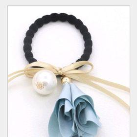 cột tóc hoa xanh giá sỉ