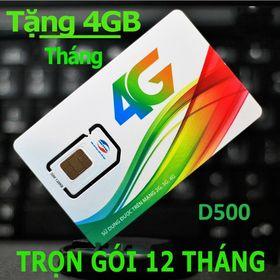 SIM VIETTEL D500 - Sim 4g Viettel Vào Mạng Không Giới Hạn Cả Năm Không Cần Nạp Tiền Giá Rẻ Nhất Việt Nam - D500VT giá sỉ