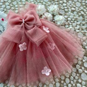 đầm công chúa hồng tây giá sỉ