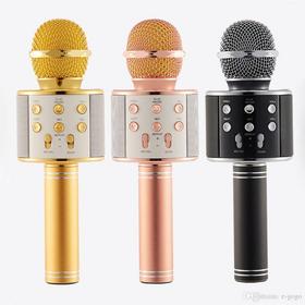 Micro Hát Karaoke Bluetooth 3in1 Kèm Loa WS-858 giá sỉ