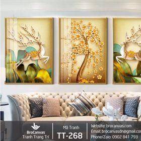 Tranh Canvas Trang Trí Treo Tường Bộ 3 Giá Rẻ giá sỉ