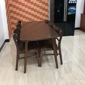 Bàn ăn 6 ghế mặt Ván giá Xưởng rẻ giá sỉ
