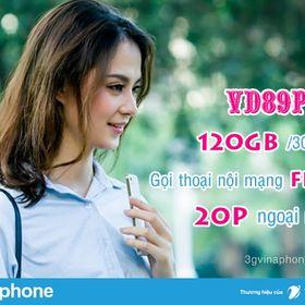 Siêu Sim 4G Vinaphone - Gói VD89P 4G/Ngày giá sỉ