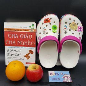 Dép crocs hoạ tiết Trắng Hồng Giá rẻ nhất thị trường