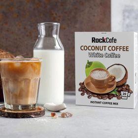 CÀ PHÊ DỪA - Rockcafe Coconut White Coffee - Hộp 20 gói x 20g giá sỉ