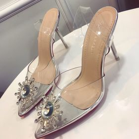 Giày cao gót hoa đá pha lê cao cấp giá sỉ