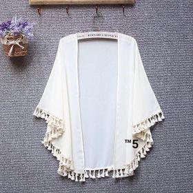Áo khoác kimono 1112 Áo khoác voan nhẹ mùa đi biển hoặc đi tập gym xinh xắn 1112