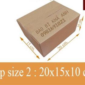 XẢ KHO - Thùng hộp carton 20x15x10cm giá sỉ