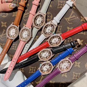Đồng hồ nữ thời trang DIMINI 88225 bầu dục ánh vàng ánh bạc giá sỉ