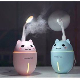 Máy phun sương tạo ẩm hình thú cao cấp 3in1 hình con mèo - kết hợp quạt và đèn ngủ giá sỉ