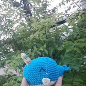 móc khóa cá voi xanh
