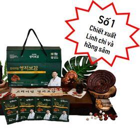 Chiết Xuất Linh Chi Và Hồng Sâm Hàn Quốc 6 Năm Tuổi 70mlx30 Gói giá sỉ
