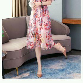 Đầm voal hoa xinh giá sỉ