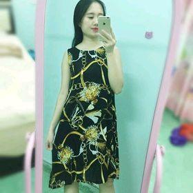 váy lanh lụa họa tiết giá sỉ