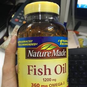 Dầu Cá NatureMade Fish Oil Omega3 1200mg Hộp 200 Viên giá sỉ