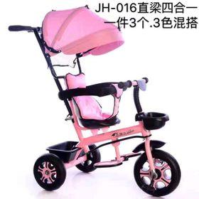 xe đạp 3 bánh có tay đẩy mái che cho bé JH-016 giá sỉ