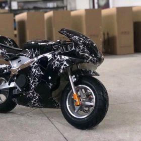 moto mini 49cc chạy xăng pha nhớt có đèn giá sỉ
