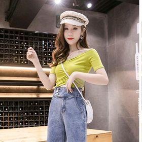 Quần jean nữ ống suông cao cấp giá sỉ