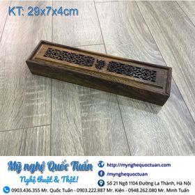 Hộp đa năng gỗ mun đựng đũa hương trầm bút chì giá sỉ
