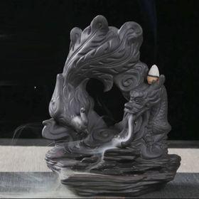 Thác khói trầm hương rồng phượng nhả khói giá sỉ