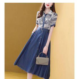 Đầm váy xanh xinh xắn giá sỉ