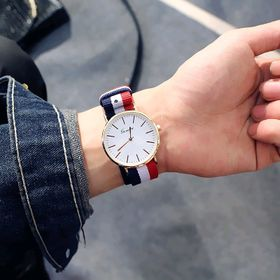 Đồng hồ cặp đôi nam nữ dây vải giá sỉ