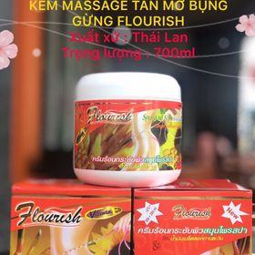 Kem tan mỡ bụng gừng Flourish 500ml Thái Lan giá sỉ