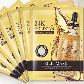 Hộp 10 miếng mặt nạ lụa 24k Goldzan giá sỉ