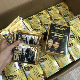 Dầu gội đen tóc hộp 10 gói nhanh gọn tiện lợi an toàn giá sỉ