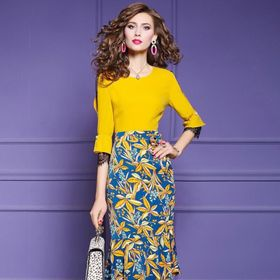 Đầm thun chân váy hoa cao cấp giá sỉ