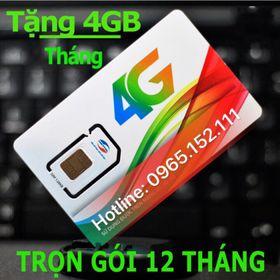 Sim 4G tốc độ cao dùng trọn gói 1 năm giá sỉ
