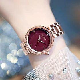 Đồng hồ nữ GUOU 6014 dây kim loại giá sỉ