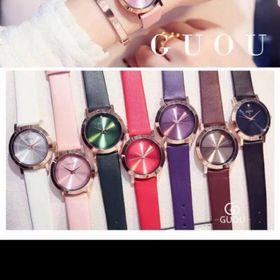 Đồng hồ nữ GUOU 8171 dây da giá sỉ