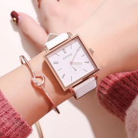 Đồng hồ nữ GUOU 8091 chạy kim rốn giá sỉ