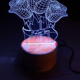 Đèn led 3D Hoa Hồng giá sỉ