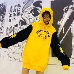 Áo hoodie nam nữ in pikachu giá sỉ