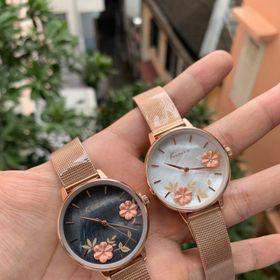 Đồng hồ nữ thời trang Kimio hoa 3D giá sỉ