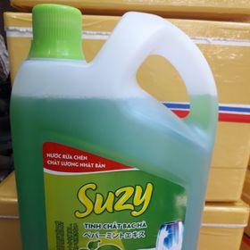 Nước rửa chén tinh chất bạc hà Suzy can 4kg - Công nghệ xanh giá sỉ