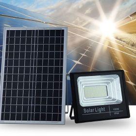 Đèn pha led năng lượng mặt trời 100W điều khiển từ xa giá sỉ