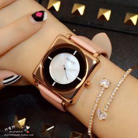 Đồng hồ nữ GUOU 8811 mặt vuông đẹp giá sỉ