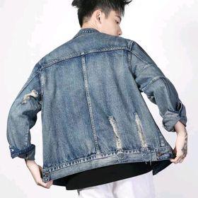 Áo Khoác Jeans Nam Xanh Bụi Ấn Tượng giá sỉ