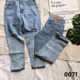 Quần baggy jean rách đùi wash 2 màu thời trang chuyên sỉ jean 2KJean giá sỉ