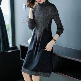 Đầm len dáng suông giá sỉ