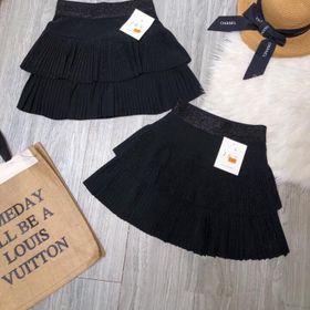 Chân váy nhũ xếp li hàng qc giá sỉ