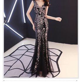 Đầm dạ hội đuôi cá ren cao cấp giá sỉ