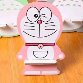 đế điện thoại gỗ mẫu mới y hình màu hồng giá sỉ