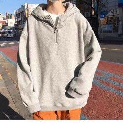 Áo hoodie nam nữa dây kéo giá sỉ